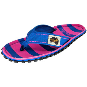 GUMBIES Islander Teenslippers, pink & blue stripe